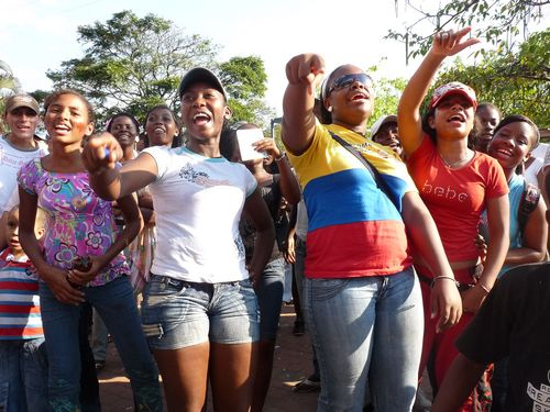Women protest in Colombia