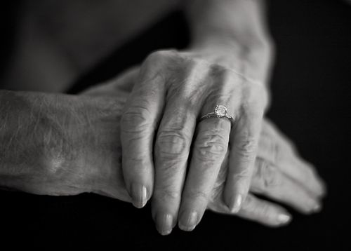 Hands of Alzheimer's patient